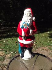 Empire Santa Claus Blow Mold Vintage Christmas 1971 34 Inch Lighted Up Decor
