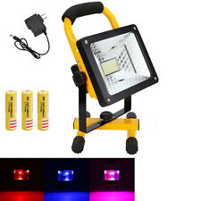 Portable 50W Rechargeable RGB 36 LED Flood Light Spot Work Camping Fishing Lamp