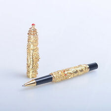 jinhao Small Double Dragon golden roller ball pen new gift pen