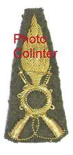 Armée Italienne - Superbe Insigne brodé cannetille d'Officier d'Infanterie