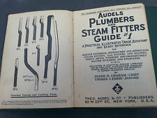 1925 Audel's Plumbers & Steamfitters Guide # 1 and # 2 Graham Emery Illustrated