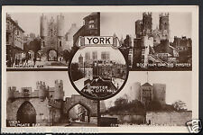 Yorkshire Postcard - Views of York - Minster From City Wall, Walmgate Bar  RS536