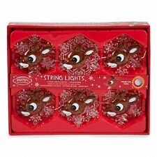 Rudolph The Red Nosed Reindeer Musical String Lights Plays 3 Songs New See Demo