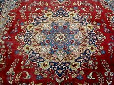 8X11 1940's INCREDIBLE AUTHENTIC HAND KNOTTED 70+YRS ANTIQUE MASHAD PERSIAN RUG
