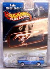 Hot Wheels Auto Milestones 65 Ford Mustang Convertible MOMC With Real Riders
