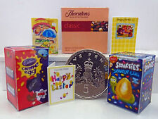 DOLLS HOUSE MINIATURE TWO EASTER EGGS, CHOCOLATES & THREE CARDS Handmade 1:12th