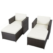 4 PCS Outdoor Patio Sofa Set Sectional Furniture PE Wicker Rattan Deck Couch F14