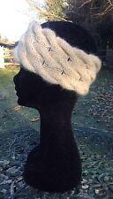 Mesdames alpaca blé câble serre-tête par Willow créations (taille unique)