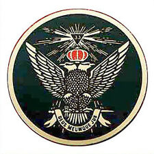 Masonic Car Decal Emblem / Scottish Rite 33rd Degree - Wings Up Crown Eagles