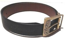 Genuine Indian Motorcycle Mens Reversible Leather Belt Black & Brown w/Gift Box
