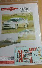 Decals 1/24 réf 832  Subaru Gr N MC Rae Wales 2004