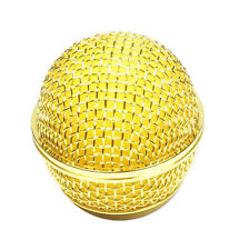 (E21) Mesh Microphone Grille Fits Shure SM58 Microphone ,Gold Plated