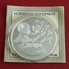 FINLAND 1997 EUROPE COMMEMORATIVE 40mm .999 FINE SILVER PROOF MEDAL b - coa