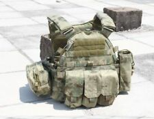 Tactical Military 6094 style Plate Carrier Chest Rig Vest with 3 pouches AC