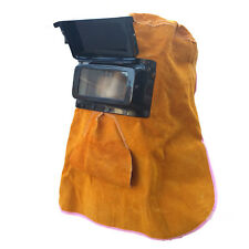 Heat insulation Protection Face Safety Leather Welding Face Mask Helmets Mask