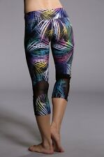 NWT Onzie Yoga Workout Swim Sprinter Capri Tights Krypton Size M/L