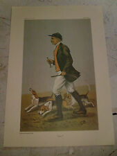 VANITY FAIR PRINT OTHO PAGET BEAGLING FOX HUNTING LOW UK POST