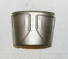 GENUINE US MILITARY STAINLESS BUTTERFLY HANDLE CANTEEN CUP - US01 WWM