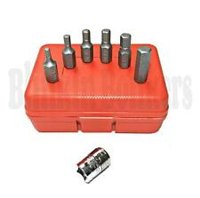 7PC METRIC HEX ALLEN ALAN ALLAN KEY BIT SOCKET SET 3/8 DRIVE 4,5,6,7,8 & 10MM