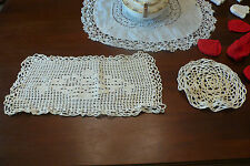 Huge Collection of VINTAGE antique linen TABLECLOTH for Bed & Breakfast: lot #21