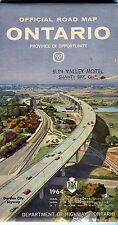 1964 Ontario Province-issued Vintage Road Map