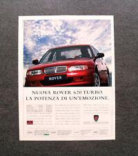 [GCG] L293- Advertising Pubblicità -1998- NUOVA ROVER 620 TURBO