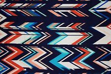 Multicolor Chevron Jersey Knit Print #110 Rayon Modal Spandex Lycra Fabric BTY