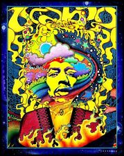 "3.25"" JIMI HENDRIX  Psychedelic Artwork STICKER. Looks great on glass bong."