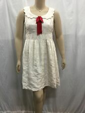 Alannah Hill The Saddest Day Frock Size 14 Ivory White Polka Dot Silk Dress