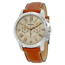 Fossil Grant Beige Dial Chronograph Mens Watch FS5118