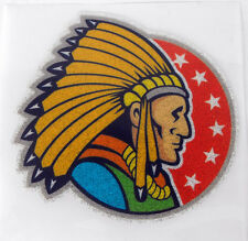 FUNNY Iron-On 4 inches Patch USA Red Indian Stars GLITTER MINT
