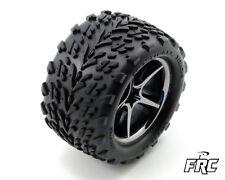Traxxas 1/16 E-Revo   Pre-Mounted Talon Tires w/Gemini Rims Black 2 TRA7174A
