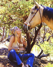 Sharon Tate with horse 8x10 photo T1364