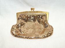 Vintage Purse - 1950's Gold Mesh Evening Bag Clutch Purse by La Regale