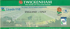 Inghilterra/ITALIA 17 FEB 2001 Twickenham Ticket Rugby