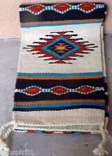 Southwestern Table Runner 30-10X80 Hand Woven Southwest Wool Geometric Design