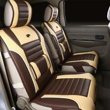 Coffee Full Surround PU Leather Car Van Seat Cushion Cover Comfy Support Pad