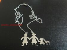 Stainless Steel Pet + Baby + Parents Family & Friend Necklace Chain Charm Gifts