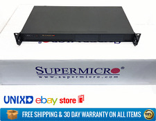 New Supermicro Atom Fanless Quiet DIY IOT NUC 1U Home Server Ubuntu ClearOS