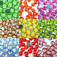 2500pcs 3MM Glass Hot Fix Crystal Rhinestones Iron On Flat Back Trainers Bling