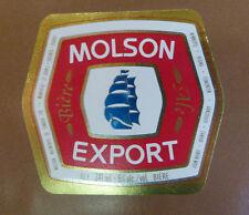 VINTAGE CANADIAN BEER LABEL - MOLSON BREWERY, EXPORT ALE 341 ML