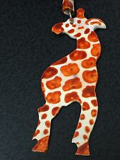 African Giraffe Free Trade Painted Bone Double Sided Necklace *12*
