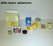 PET CAT CARRYING BOX AND ACCESSORIES DOLLS HOUSE MINIATURE B