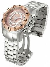 Invicta Excursion Chronograph Rose Dial Stainless Steel Mens Watch 11000