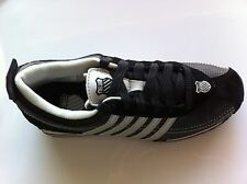 K-SWISS SHOES GHENT 01161019  ATHLETIC SNEAKERS BLACK/SILVER MENS SIZE 7