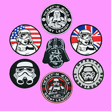7 Lot Star Wars Dark Vader Storm Trooper US UK 501st Embroidered Iron on patch