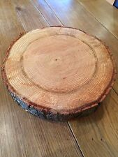 "16"" Rustic Log slice, Wooden Wedding cake stand,  centre piece,"