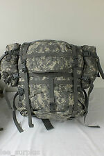 MOLLE II LARGE RUCKSACK FIELD PACK ACU COMPLETE SET UP US Military VG/EXC Cond