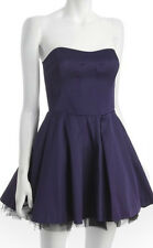French Connection ~ Purple Sateen 'Prom Twill' Strapless Formal Dress 4 NEW $228