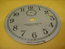 """Vintage Chelsea Clock Company 3-3/4"""" Replacement Silver Colored Dial F-S E441b"""